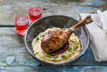 Baked Turkey Leg With Cranberr...