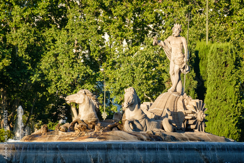 The Fountain of Neprune in Madrid