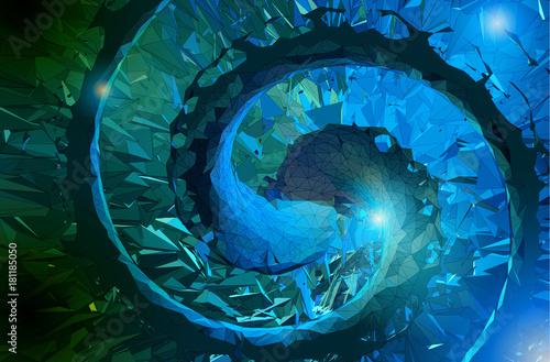 Abstrakcjonistyczna poligonalna ślimakowata sztuka bg