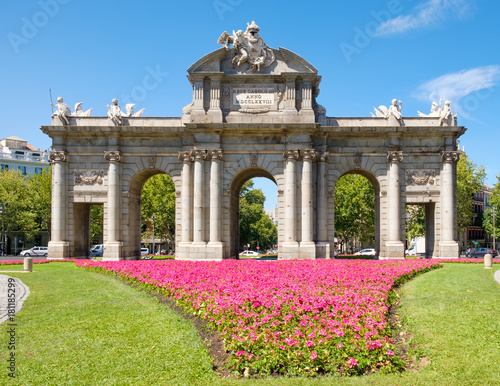 The Puerta de Alcala or Alcala Gate in Madrid, a symbol of the city