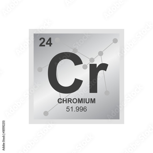 Vector Symbol Of Chrome From The Periodic Table Of The Elements On