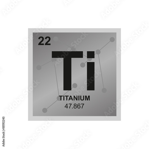 Vector symbol of titanium from the periodic table of the elements on vector symbol of titanium from the periodic table of the elements on the background from connected urtaz Choice Image