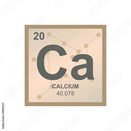 Vector Symbol Of Calcium From The Periodic Table Of The Elements On