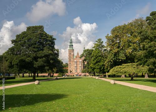 Photo  Rosenborg Castle Garden Copenhagen in Denmark