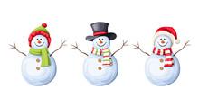 Vector Set Of Three Christmas ...