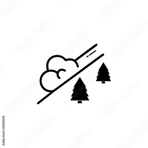 Photo snow avalanche icon
