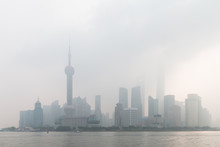Shanghai Pudong In The Haze