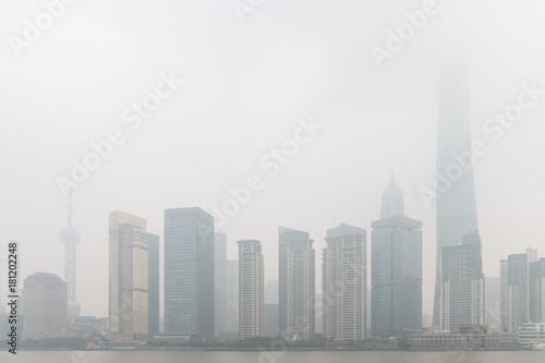 Papiers peints Paris Shanghai Pudong in the haze