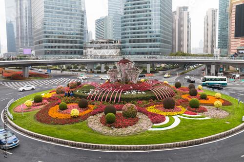 Obraz na dibondzie (fotoboard) Szanghaj Lujiazui miasta krajobraz