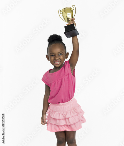 Fotografía  African Girl Won Prize Award Reward Portrait Concept