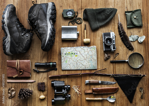 Fotografia  Planning for the trekking trip
