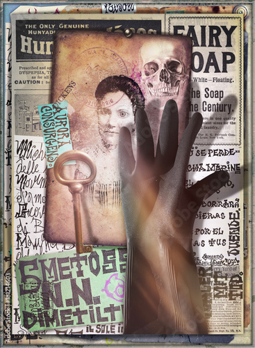 Poster Imagination Scrapbooks,collage,patchworks bizzarri,surreali,misteriosi ed esoterici
