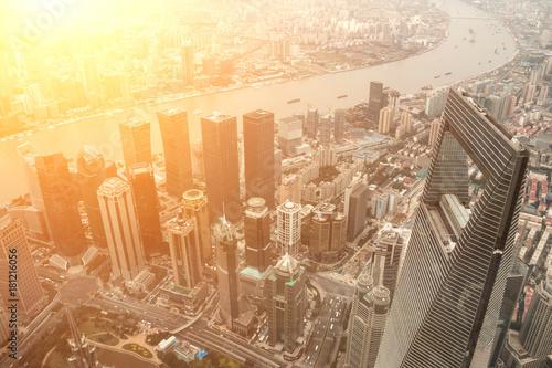 Obraz na dibondzie (fotoboard) Szanghaj panoramę miasta