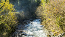 Spring River In The Alps