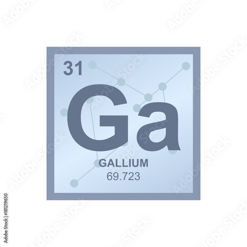 Vector Symbol Of Gallium From The Periodic Table Of The Elements On