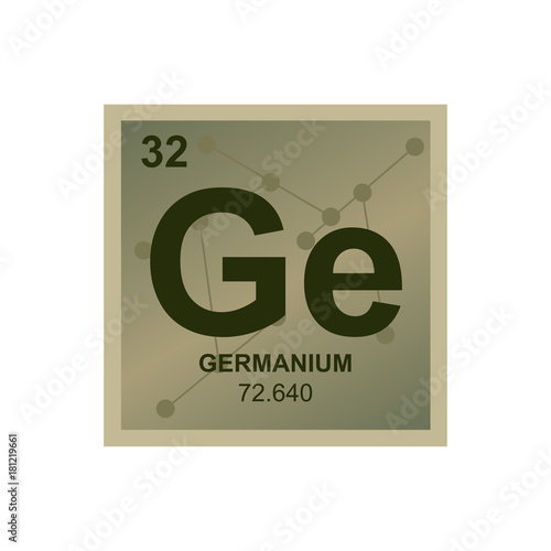 Vector Symbol Of Germanium From The Periodic Table Of The Elements