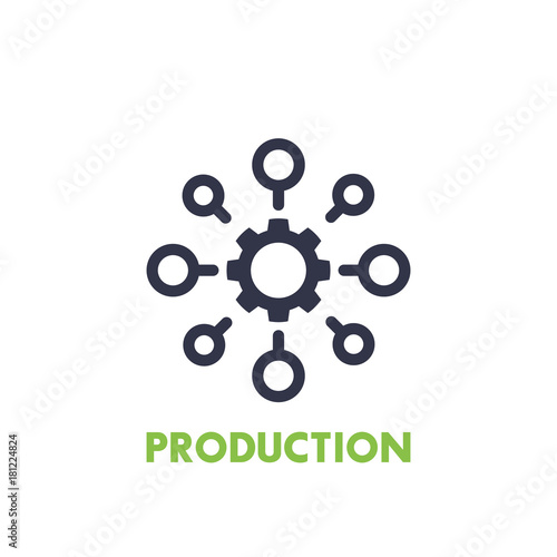 Photo production icon on white