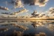 Leinwandbild Motiv Wolkenstimmung an der Nordsee