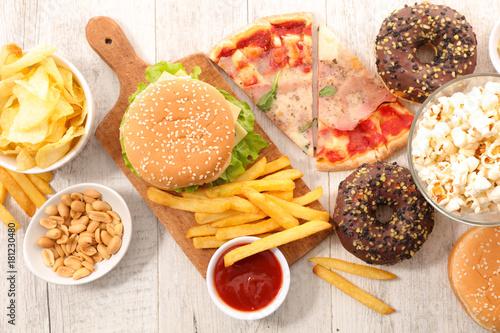 assorted fast food,junk food © M.studio