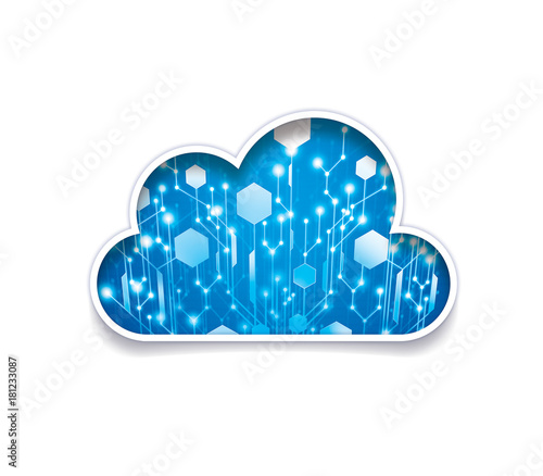 Photo Data in the cloud symbol