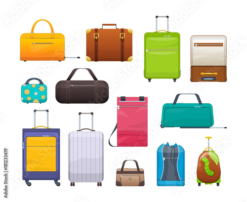 Photo Collection different bags, suitcases, luggage