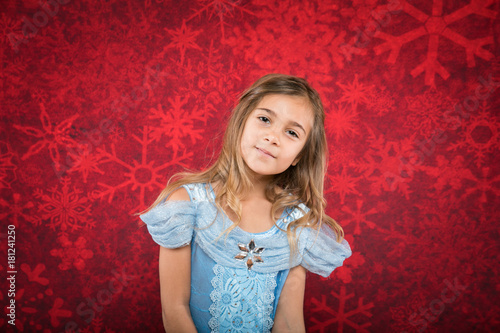 Photo  little girl in cindrella dtyle dress