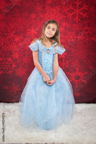 little girl in cindrella dtyle dress Wallpaper Mural