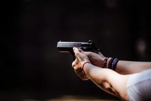 Shooting A Pistol