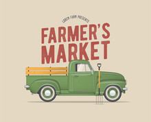 Farmer's Market Themed Vintage...
