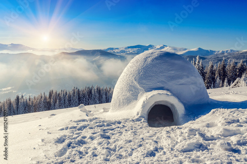 real igloo and sun