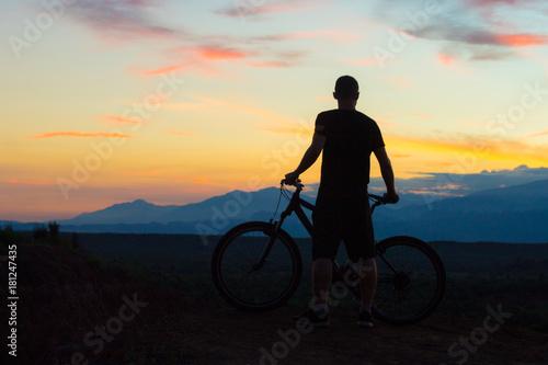 Foto op Canvas Fietsen ciclomontañismo