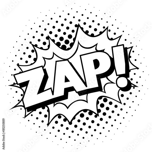 zap pop art template cartoon comic explosion buy this stock