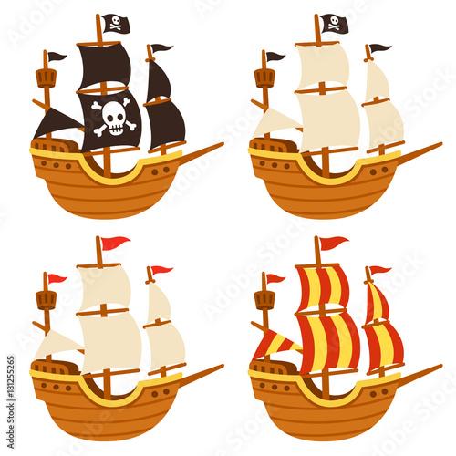 Fotografija  Cartoon ships set