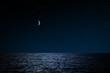 canvas print picture - Sternenhimmel über See