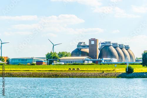 Modern biogas factory in Bremen, Germany Canvas Print