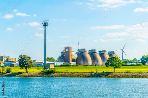 Modern biogas factory in Bremen, Germany Canvas Print