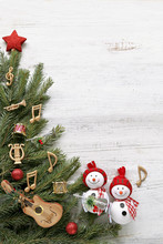 Snowman With Christmas Tree , ...