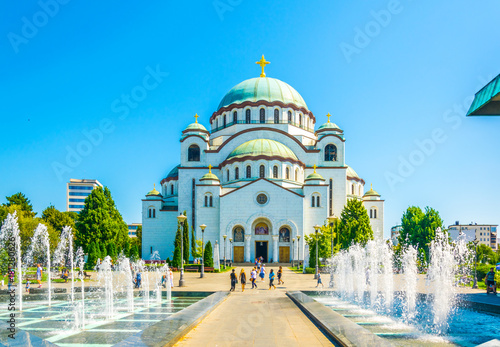 View of the saint sava cathedral in Belgrade, Serbia