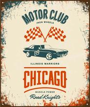 Vintage Muscle Vehicle Vector ...
