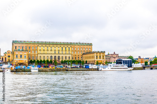 Foto auf Gartenposter Stockholm View of Gamla Stan and The Royal Palace in Stockholm, Sweden.