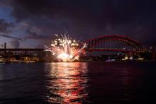 Fireworks In Sydney Harbour Du...