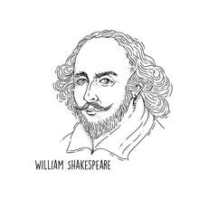 William Shakespeare Line Art P...