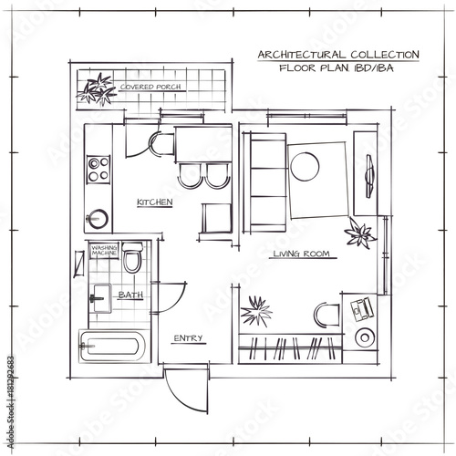 Photo Architectural Floor Plan