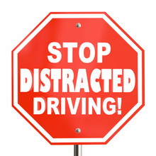 Stop Distracted Driving Sign N...