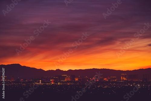 Foto auf Gartenposter Las Vegas Las Vegas Scenic Skyline