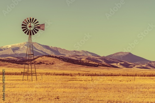 Photo Stands Olive Colorado Countryside Landscape