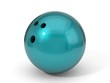 bowling ball painted with car paint. 3d illustration