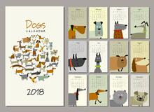 Funny Dogs, Calendar 2018 Design