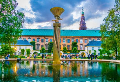 Photo  fountain in front of the Danish Jewish Museum in Copenhagen, Denmark
