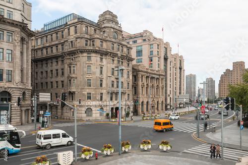 Plakat Shanghai Bund starych budynków